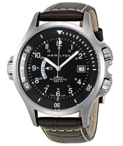 Hamilton Men's H77615833 Khaki Navy GMT Automatic Watch
