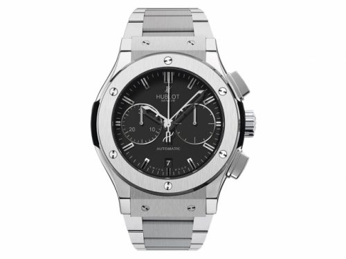 Hublot Classic Fusion Automatic Titanium Chronograph, Black Dial 45mm Mens Watch