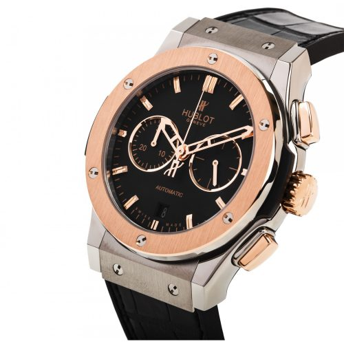 Hublot Classic Fusion Automatic Titanium & Rose Gold, Black Dial 45mm Mens Watch