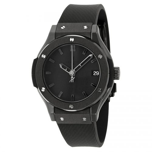 Hublot Classic Fusion Black Dial Black Ceramic Ladies Watch 581.CM.1110.RX