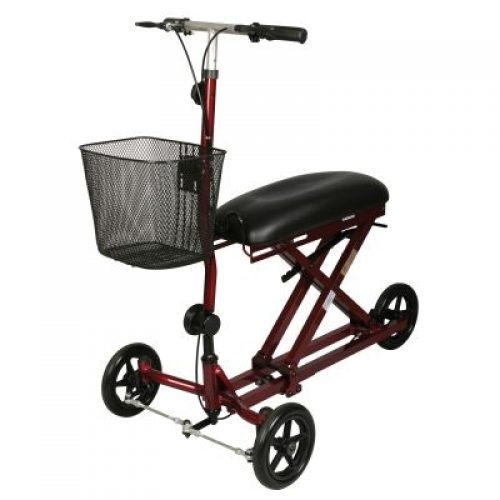 Medline Weil Knee Walker, Burgundy