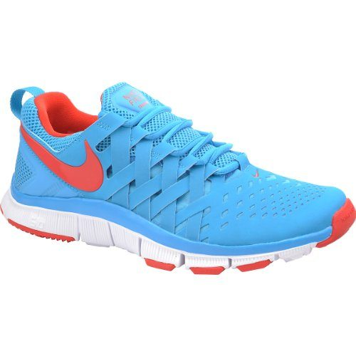 ... Mens Nike Free Trainer 5.0 Training Shoe Vivid Blue White Light Crimson