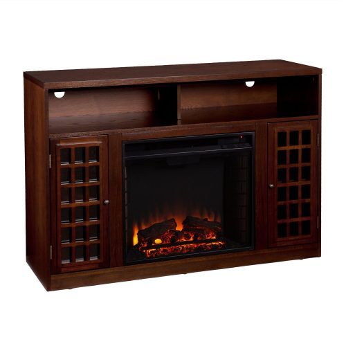 Narita Media Electric Fireplace - Espresso