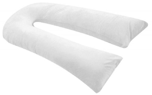 Oversized - Total Body Pregnancy Maternity Pillow- Full Support - w Zippered Cover - White - Exclusively By Blowout Bedding RN# 142035