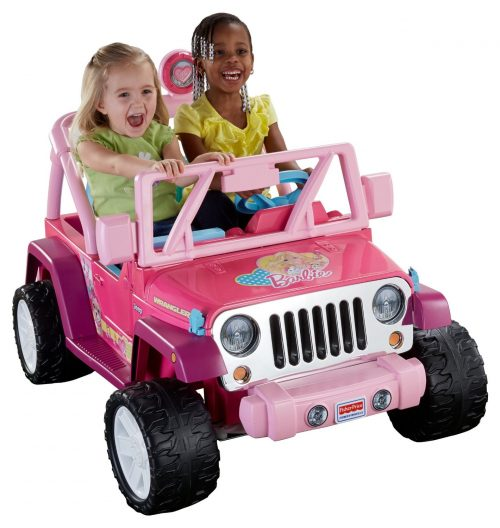 Power Wheels Barbie Jammin Jeep Wrangler, Dark Pink