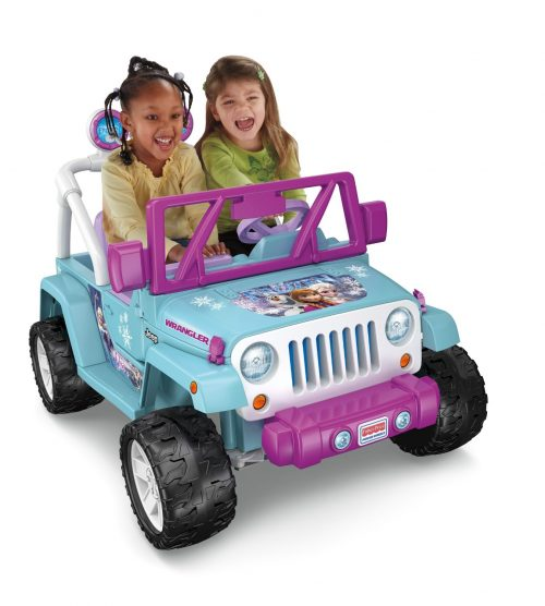 Power Wheels Disney Frozen Jeep Wrangler, Baby Blue Purple