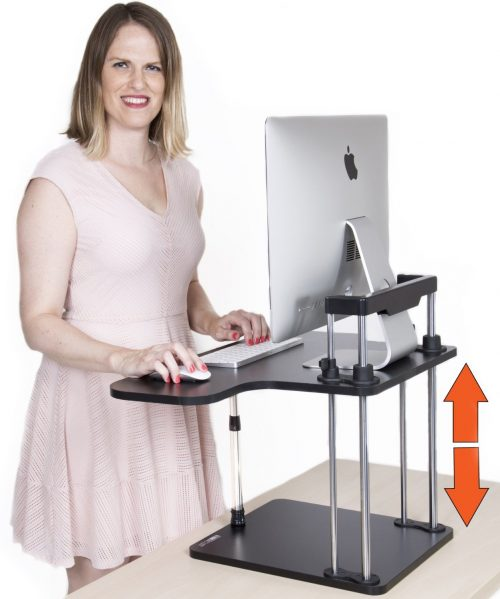 STAND STEADY UpTrak Standing Desk - Best Seller - converts any desk or cube to a sit stand up desk