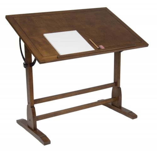 STUDIO DESIGNS 42in Vintage Drafting Table Rustic Oak 13305