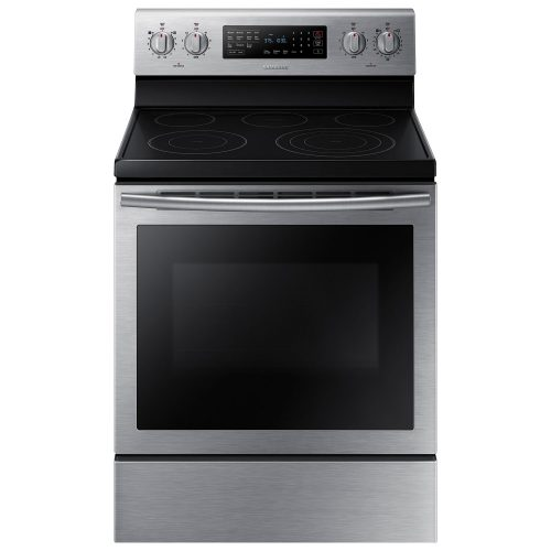 Samsung Appliance NE59J7630SS 30 5.9 cu. ft. Freestanding Electric Range with 5 Smooth Top Electric Elements, Storage Drawer in Stainless Steel