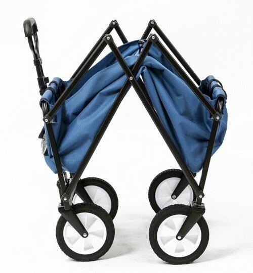 Seina Collapsible Folding Utility Wagon Garden Cart Shopping Beach Outdoors