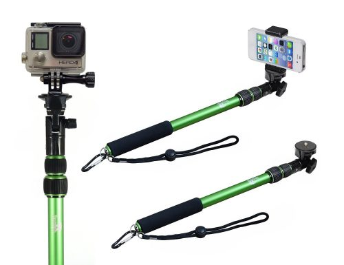 Selfie Stick - Pole - Monopod Selfie Stick - Best Selfie Stick - Selfie Stick for iPhone 6 - Use as a Selfie Stick for GoPro - Rugged Waterproof with NO Bluetooth - The Alaska Life©