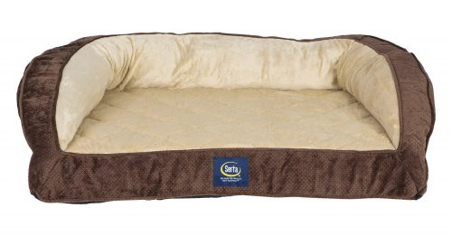 Serta Orthopedic Quilted Couch Dog Bed