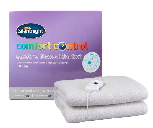 Silentnight Comfort Control Electric Blanket, Fleece - Double