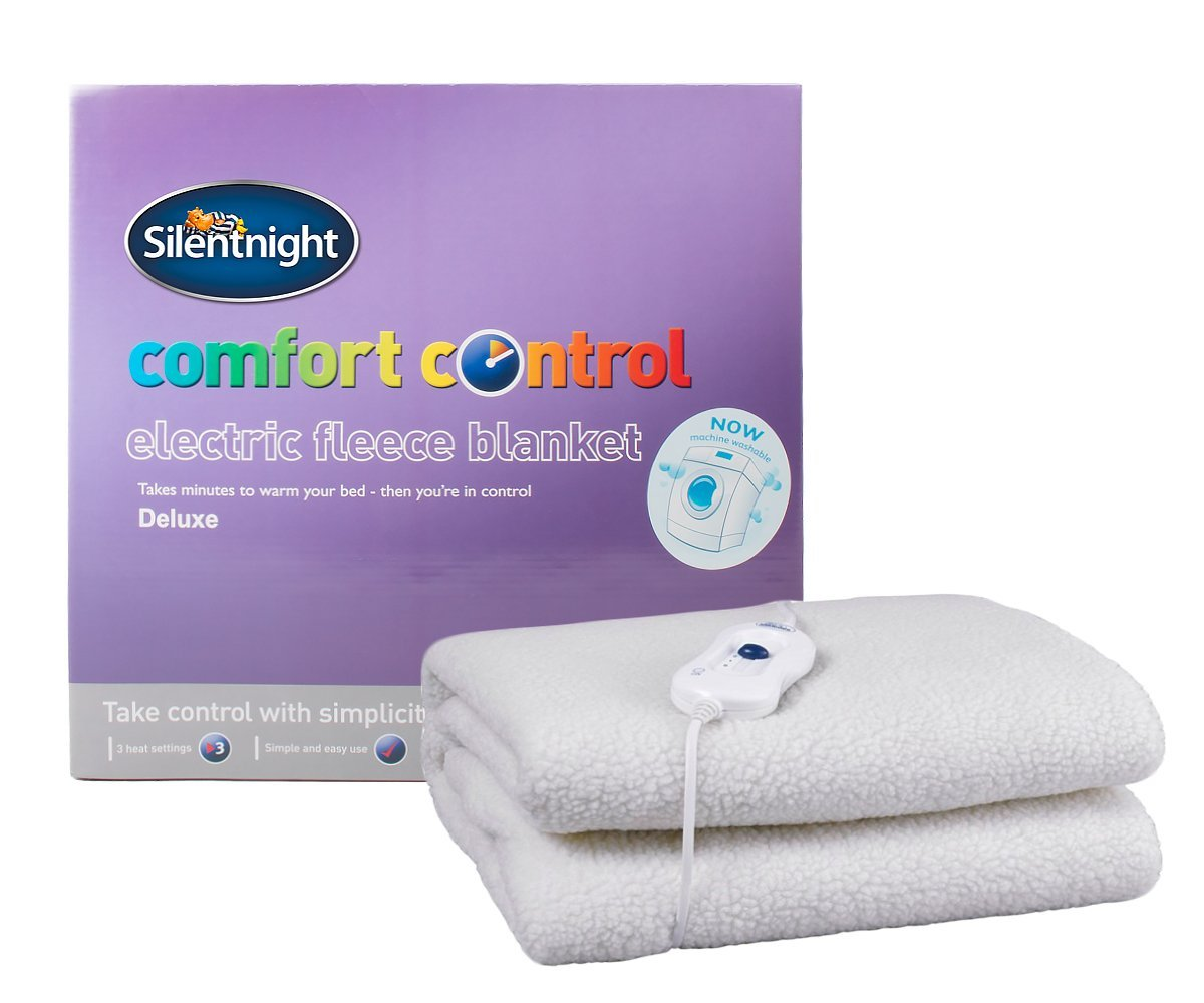 Silent Comfort Electric Heated Blanket Polyester