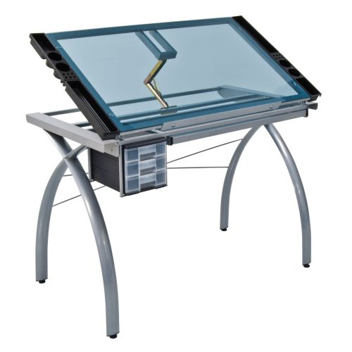 Studio Designs 10050 Futura Craft Station, Silver Blue Glass