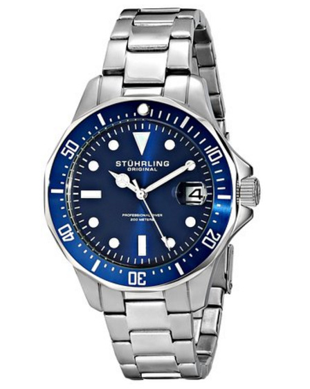 Amazon.com: Stuhrling Original Mens Swiss Quartz Stainless ...