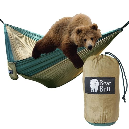 Bear Butt #1 Double Parachute Camping Hammock START UP COMPANY Shaking The Eagle Out Of The Nest Since 2015
