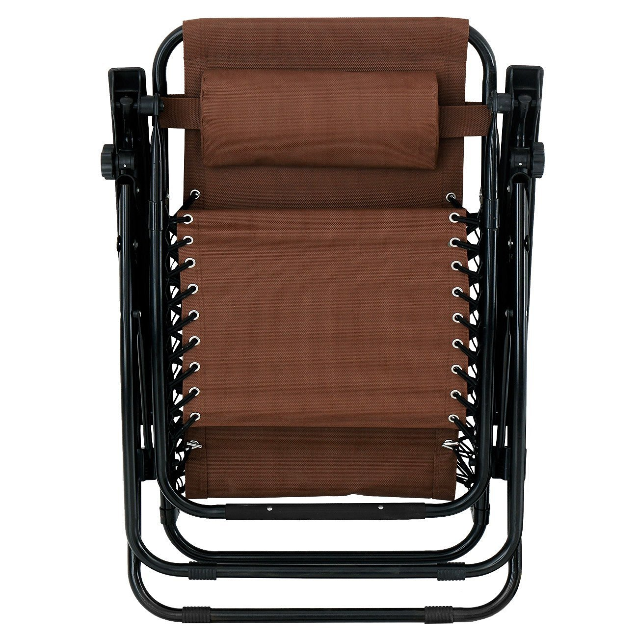 Bellezza Pack Zero Gravity Chairs Patio Lounge Cup Holder Utility Tray Brown on Caravan Sports Infinity Zero Gravity Chair