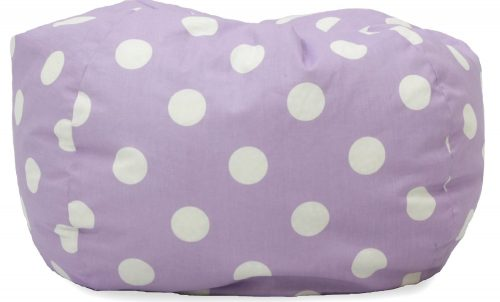 Big Joe Classic Bean Bag Chair, Lavender Polka Dot