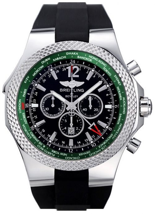 Breitling Bentley GMT British Racing Green Limited Edition Mens Watch A47362S4 B919