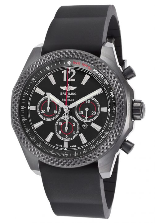 Breitling Men's M4139024-BB85 Barnato 42 Stainless Steel Automatic Watch with Black Rubber Band