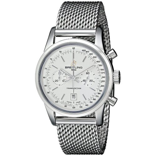 Breitling Transocean swiss-automatic silver mens Watch A4131053 G757