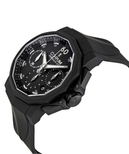 Corum Admiral Cup Black Hull 48 Mens Rubber Chrono Watch 753.934.95 0371 AN92