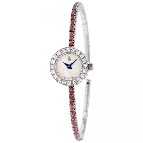 Corum Debutante Mother of Pearl Diamond Light Pink Topaz Ladies Watch