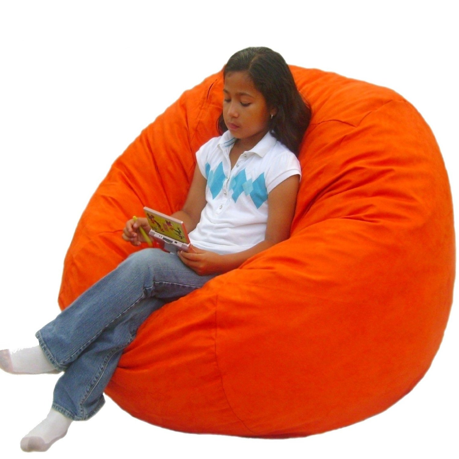 Cozy Sack 3 Feet Medium Bean Bag Chair For Kids Pumpkin