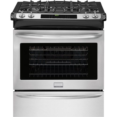 Frigidaire Gallery Series FGGS3065PF 30 Slide-In Gas Range in Smudge-Proof Stainless Steel