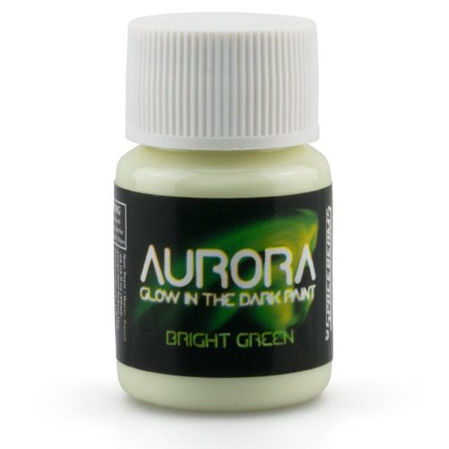 Glow in the Dark Paint, 0.68 oz (20ml), Aurora Bright Green, Non-Toxic, Water Based, by SpaceBeams