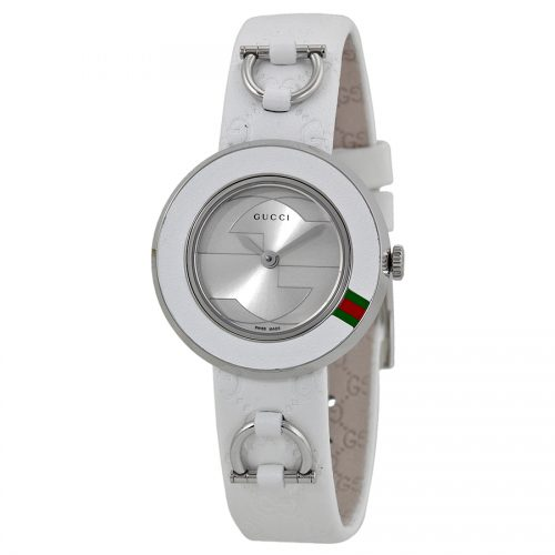 Gucci Women's YA129509 U-play Watch with Leather Band