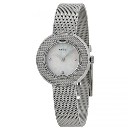 Gucci Women's YA129517 U-Play Stainless Steel Watch with Stainless Steel Bracelet