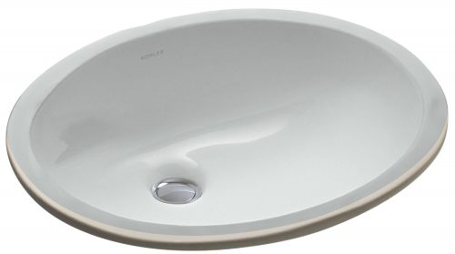 KOHLER K-2209-95 Caxton Undercounter Bathroom Sink, Ice Grey