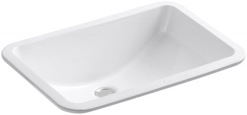 KOHLER K-2214-0 Ladena Undercounter Bathroom Sink, White