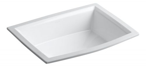 KOHLER K-2355-0 Archer Undercounter Bathroom Sink, White