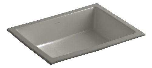 KOHLER K-2882-K4 Verticyl Rectangle Undercounter Bathroom Sink, Cashmere