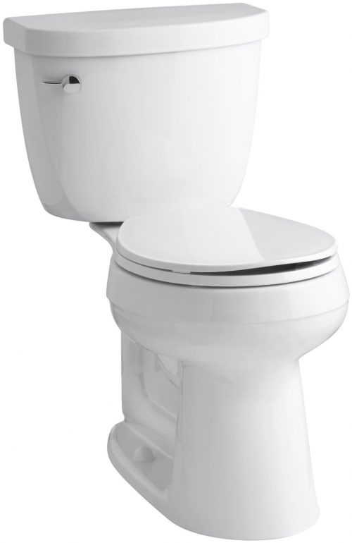 Kohler K-3887-96 Two-Piece Round-Front Cimarron Comfort Height Toilet with Left-Hand Trip Lever