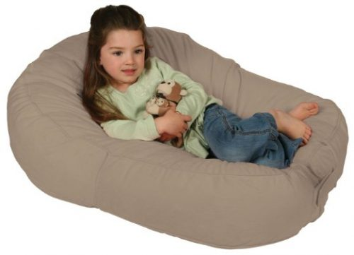Leachco Pillay Plush Sling Style Lounger Latte