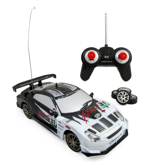 Liberty Imports Super Fast Drift King RC Sports Car Remote Control Drifting Race Car + Headlights, Backlights, Side Lights + 2 Sets of Tires