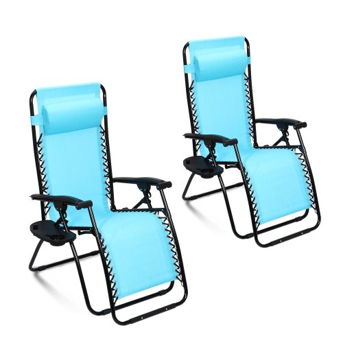 Ollieroo® 2-Pack Blue Zero Gravity Lounge Chair with Pillow and Utility Tray Adjustable  sc 1 st  JonsGuide.Org & Top 10 Best Zero Gravity Chair Reviews - Find Yours [2017] islam-shia.org