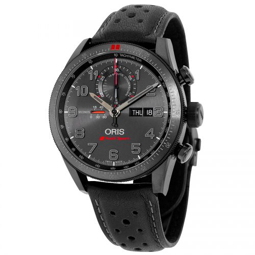 Oris Artix GT Audi Sport Chronograph Black Dial Black Leather Watch 778-7661-7784SET