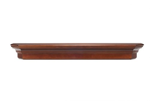 Pearl Mantels 490-60-70 Lindon Wood 60-Inch Wall Shelf, Distressed Cherry