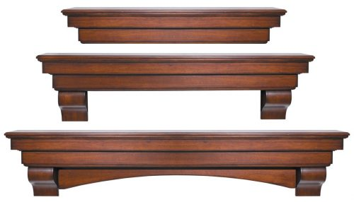 Pearl Mantels 495-60-70 Auburn Arched 60-Inch Wood Fireplace Mantel Shelf, Distressed Cherry