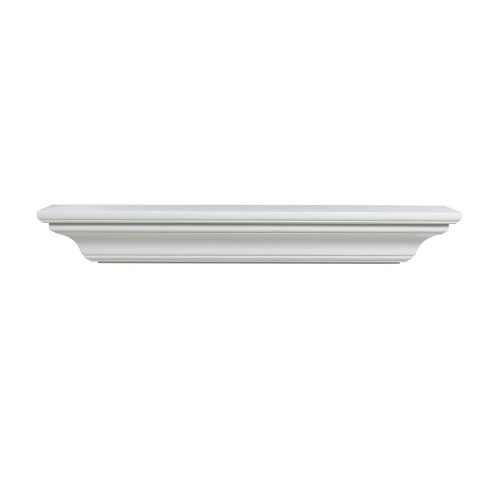 Pearl Mantels 618-60 Crestwood Paint Grade Fireplace Mantel Shelf, Length 60-Inch