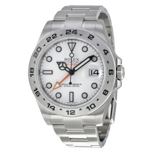 Rolex Explorer II White Automatic Stainless Steel Mens Watch 216570WSO