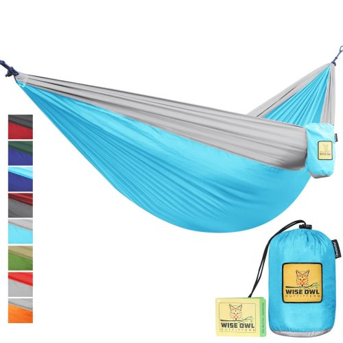 The Ultimate Single & Double Camping Hammocks- The Best Quality Camp Gear For Backpacking Camping Survival & Travel- Portable Lightweight Parachute Nylon Ropes and Carabiners Included