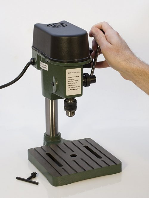 TruePower 01-0822 Precision Mini Drill Press with 3 Range Variable Speed Control 0-8500 Rpm