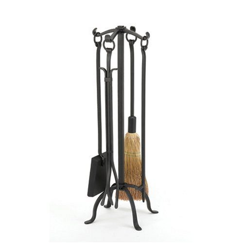 WOODFIELD Woodfield Black Wrought Iron 4-piece Tool Set Wring Handles 61221