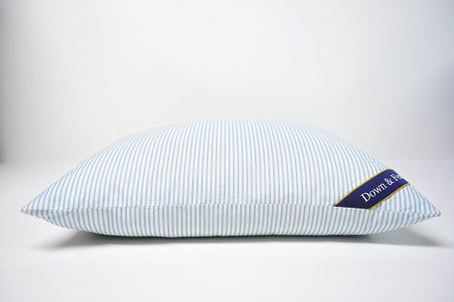original-medium-feather-pillow-standard-size-20-x-26-220-thread-count-100-cotton-blue-and-white-stripe-shell-guaranteed-hypoallergenic